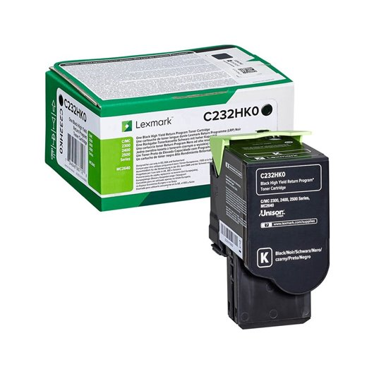 LEXMARK C232HK0 Black High Yield Return Program Toner Cartridge