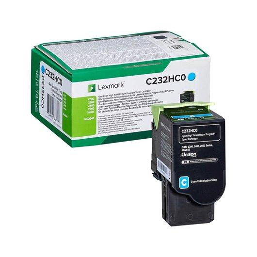 LEXMARK C232HC0 Cyan High Yield Return Program Toner Cartridge