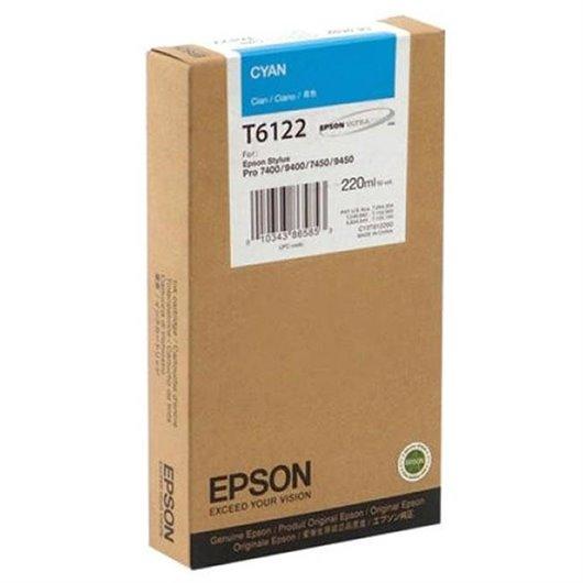 EPSON T6112 cartouche dencre cyan capacité standard 110ml pack de 1