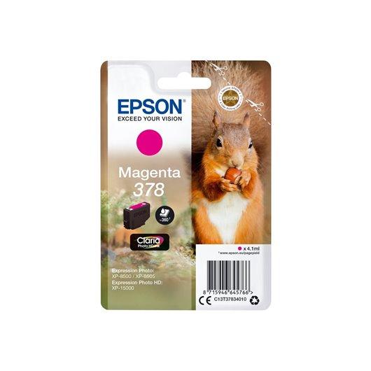 EPSON Encre Claria Photo HD - Cartouche Ecureuil 378 Magenta avec alarme