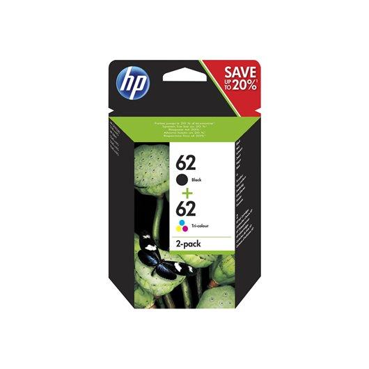 HP 62 - HP N9J71AE - Pack de 2 Cartouches d'encre HP
