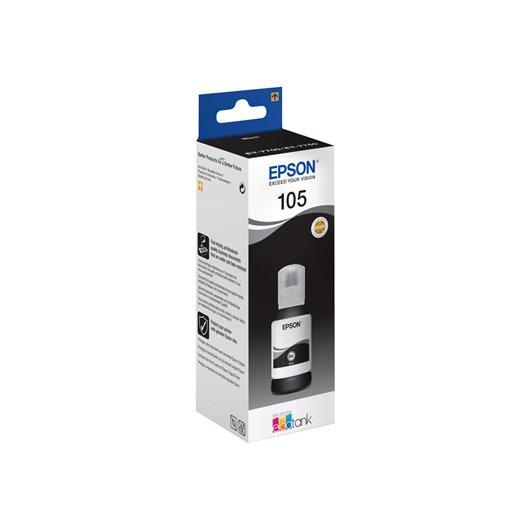 Epson 105 - Epson C13T00Q140 - EcoTank 105 - Noir - Bouteille d'encre Epson