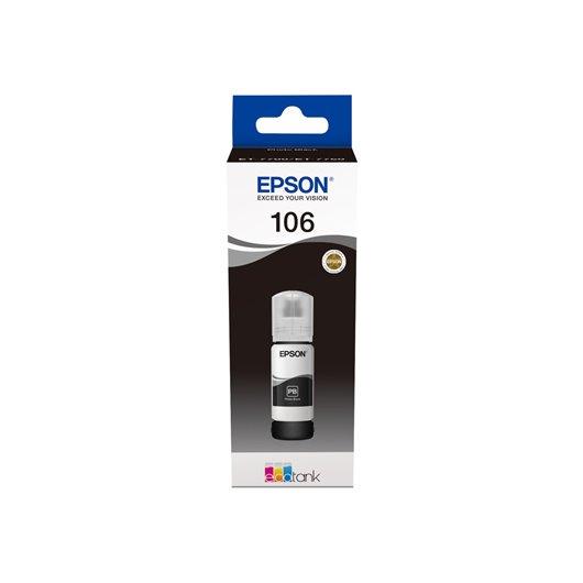 Epson 106 - Epson C13T00R140 - EcoTank 106 - Photo Noir - Bouteille d'encre Epson