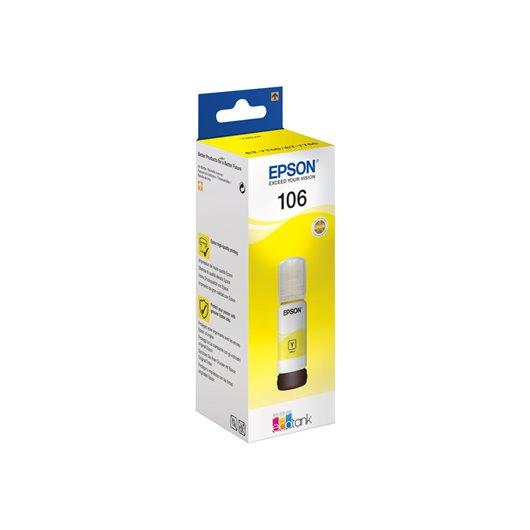 Epson 106 - Epson C13T00R440 - EcoTank 106 - Jaune - Bouteille d'encre Epson