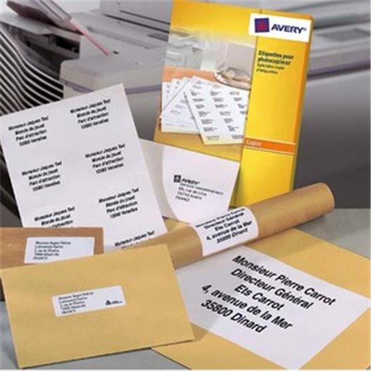 AVERY Boîte de 400 étiquettes copieur 105X149 blanc DP004-100