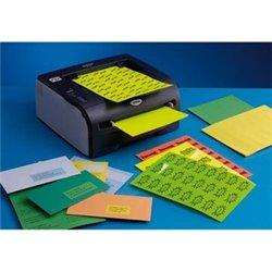 Boîte de 400 Etiquettes adhésives couleur Bleu - Format  105 x 148,5 mm. Planche A4