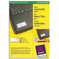AVERY Boîte de 960 étiquettes métalliques 45,7x21,2 impression laser L6009-20