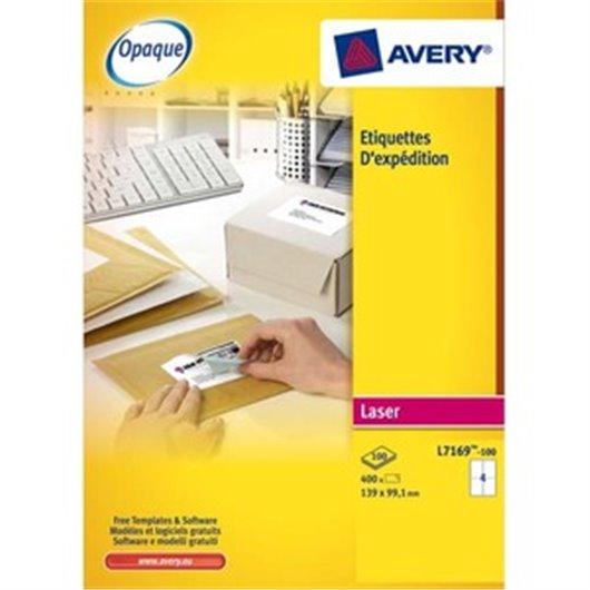 Boîte de 600 étiquettes laser blanc 99.1X93.1mm L7166-100
