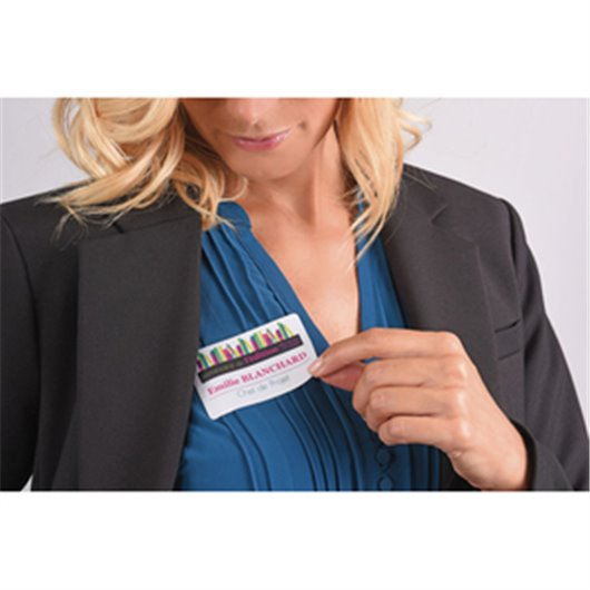 AVERY Boite de 200 badges adhésifs en tissu blanc 5x8 cm