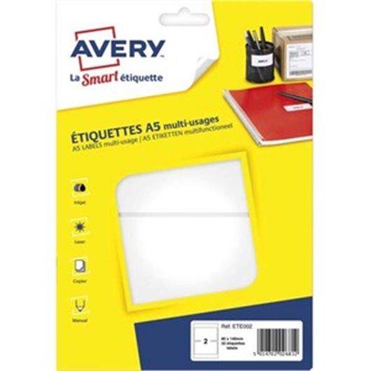 18d1259c9d335 AVERY Pochette de 200 étiquettes pour badges à clip plastique format ...