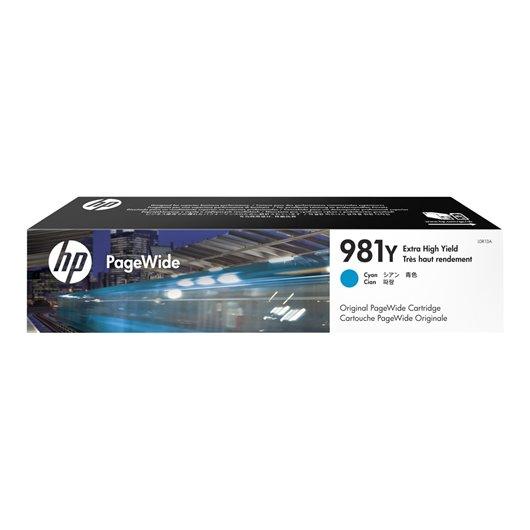 HP 981Y - HP L0R13A - Cyan - Cartouche PageWide extra grande capacité HP