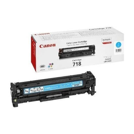 718 Cyan Cartouche laser Canon
