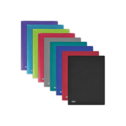 Esselte Vivida Reliure prot/ège-documents souple en polypropyl/ène avec 100 pochettes A4 200 feuilles Noir