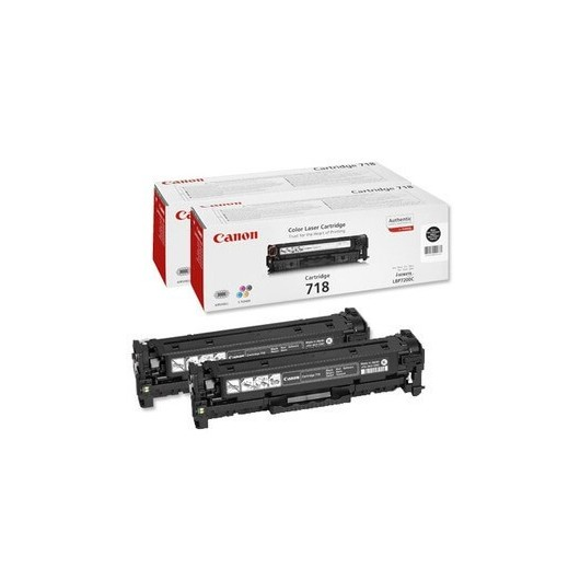 718 Pack Noir Cartouche laser Canon