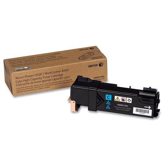 XEROX PHASER 6500 WorkCentre 6505 cartouche de toner cyan haute capacité 2.500 pages pack de 1