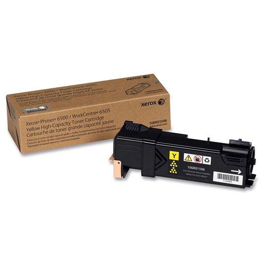 XEROX PHASER 6500, WorkCentre 6505 cartouche de toner jaune haute capacité 2.500 pages pack de 1