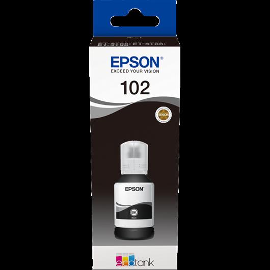 Epson 102 - Epson C13T03R140 - EcoTank 102 - Noir - Bouteille d'encre Epson