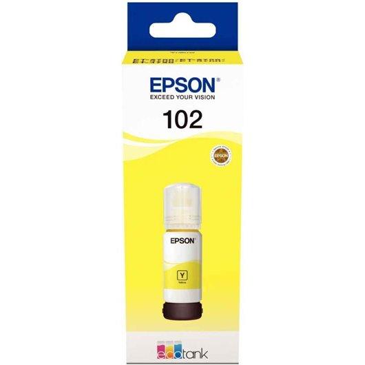 Epson 102 - Epson C13T03R440 - EcoTank 102 - Jaune - Bouteille d'encre Epson