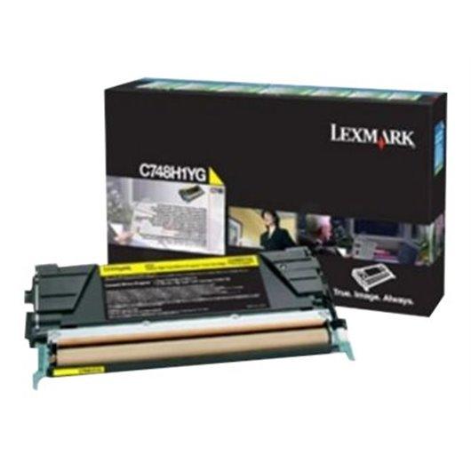 LEXMARK C748 cartouche de toner jaune capacité standard 10.000 pages Corp.cartr.