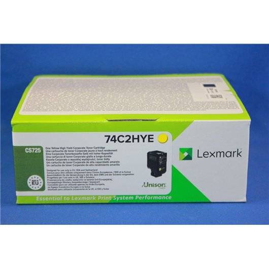 Lexmark 74C2HYE - Jaune - Toner Lexmark