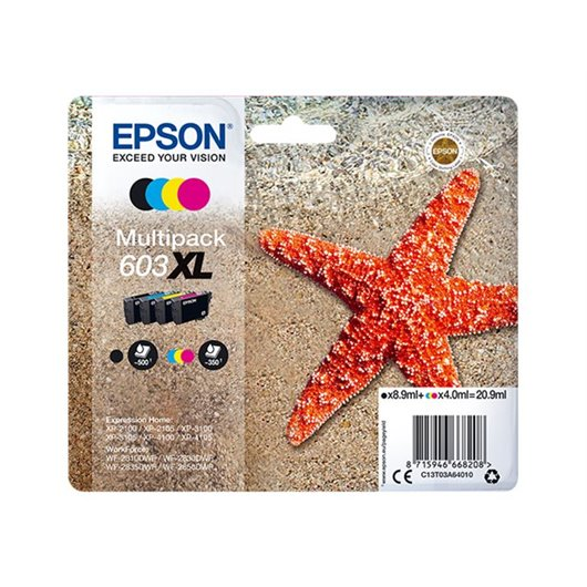 Epson 603XL - Tour Eiffel - MultiPack de 4 Cartouches d'encre Epson