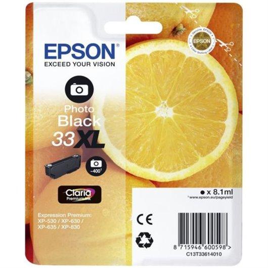 Epson T3361 - Epson 33XL - Epson Orange - Noir Photo - Cartouche d'encre Epson