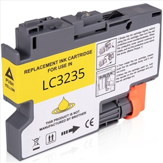 Compatible Brother LC-3235XLY - Jaune - Cartouche XL Compatible Brother