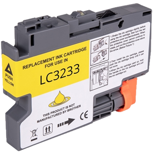 Compatible Brother LC-3233Y - Jaune - Cartouche Compatible Brother