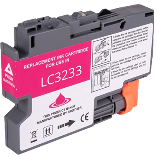 Compatible Brother LC-3233M - Magenta - Cartouche Compatible Brother