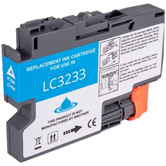 Compatible Brother LC-3233C - Cyan - Cartouche Compatible Brother