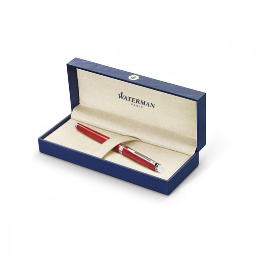 WATERMAN Stylo plume Hémisphère Comet Red, pointe moyenne encre Bleue