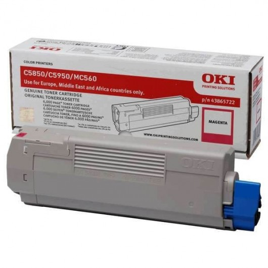 43865722 Toner Magenta OKI C5850/C5950/MC560