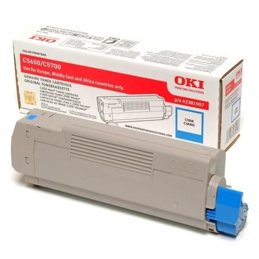 43381907 Cyan Toner OKI C5600/C5700