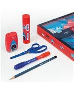 MILAN - Coffret cadeau Shark Attack bleu et rouge garçon