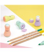 MILAN - Taille-crayons-gomme SWAY Pastel