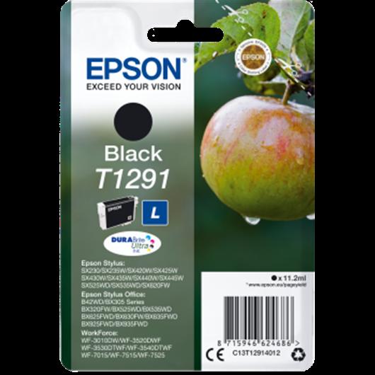 Epson T1291 -Epson  Pomme - Noir - Cartouche d'encre Epson