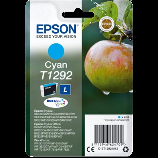 Epson T1292 - Epson Pomme - Cyan - Cartouche d'encre Epson