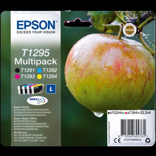 Epson T1295 -Epson  Pomme - MultiPack de 4 Cartouches d'encre Epson