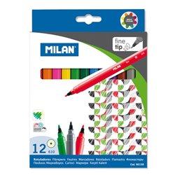 Milan - Boîte 12 feutres pointe fine