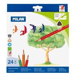 MILAN - Pochette 24 crayons de couleur triangulaires