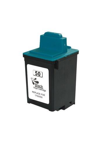 Compatible Lexmark 17G0050 - Lexmark 50 - Noir - Cartouche d'encre Compatible Lexmark