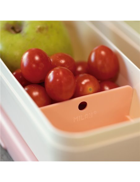 MILAN - Boîte alimentaire rectangulaire 0,75 l, couvercle vert