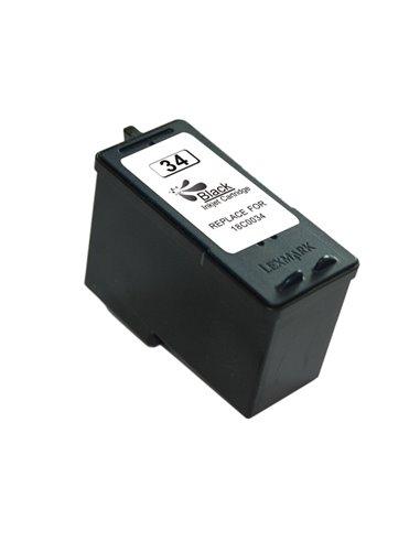 Compatible Lexmark 18C0034E - Lexmark 34XL - Noir - Cartouche Compatible Lexmark