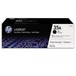 HP 35A - HP CB435AD - Noir - Pack de 2 Toners HP