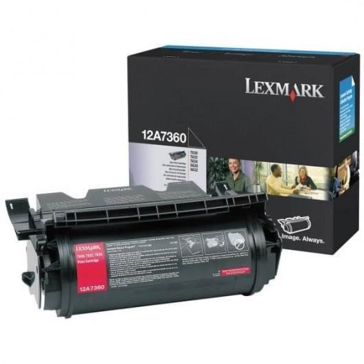 12A7360 Toner Noir Lexmark
