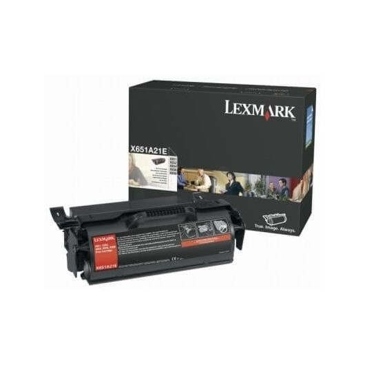 X651A21E Toner Noir Lexmark