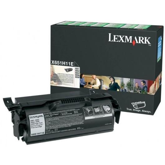 X651H11E Toner Noir Return Programme Haute Capacité Lexmark