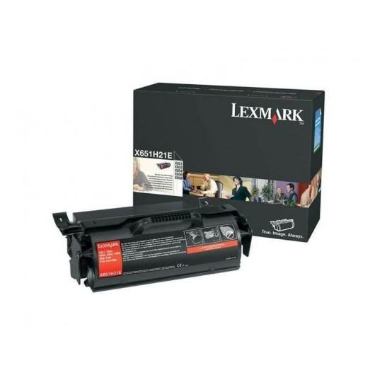 X651H21E Toner Noir Haute Capacité Lexmark