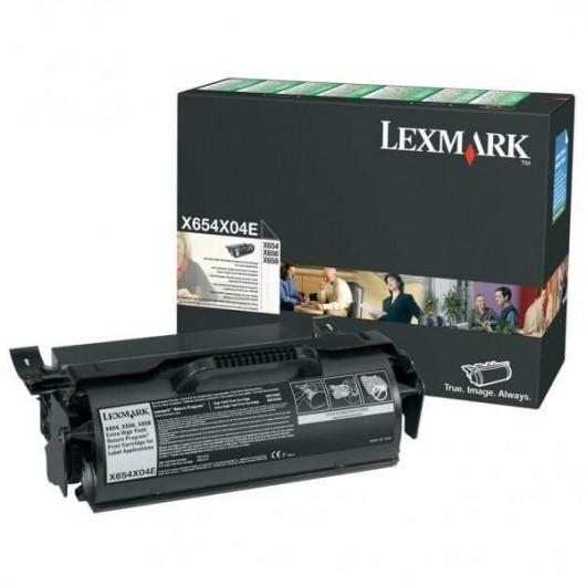 X654X04E Toner Noir Return Programme Très Haute Capacité Spéciale Etiquettes Lexmark