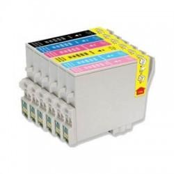 Epson T0487 - Hyppocampe - MultiPack de 6 Cartouche d'encres Compatibles Epson